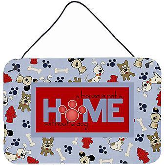 Ein Haus ist kein Haus ohne Hund Wand oder Tür hängen Drucke