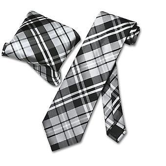 ベスビオ ナポリ格子縞ネクタイ ・ ネクタイ セットに一致するハンカチ