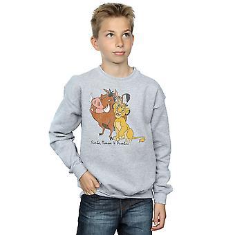 Disney chłopców lew, król klasyczne Simba, Timon i Pumba Bluza