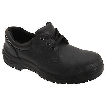 Grafters Mens 3 øye korn skinn sikkerhet Toe Cap sko