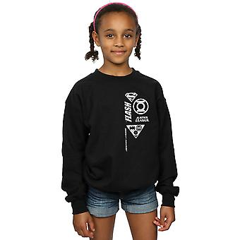 DC Comics Girls Justice League Chest Icons Sweatshirt