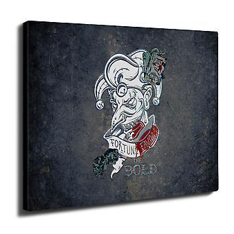 Nauraa pokeri kortin Gamble seinän taide kankaalle 40 cm x 30 cm | Wellcoda