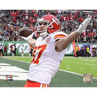 Travis Kelce 2017 toiminta Photo Print