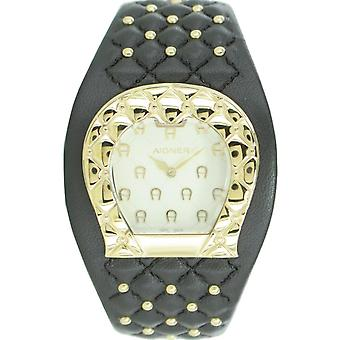 Aigner ladies watch wristwatch leather band Brown A41205