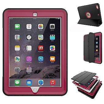 Multi-part hybrid outdoor protective cover case Pink for Apple iPad 2 air bag wake UP 3folt