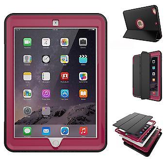 Moniosainen hybridi ulkouima suojus tapauksessa vaaleanpunainen Apple iPad 2 turvatyyny herätä 3folt