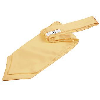 Bleg gul almindelig Satin Self-tie bryllup Cravat