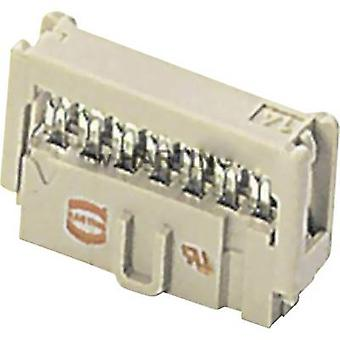 Edge connector (receptacle) 09 18 526 6813 Total number of pins 26 No. of rows 2 Harting 1 pc(s)