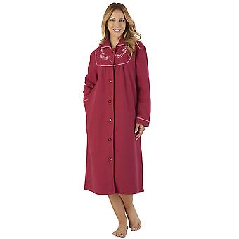 Slenderella HC2326 Women's Boucle Fleece Floral Robe Loungewear Bath Dressing Gown