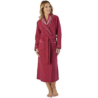 Slenderella HC2328 Women's Boucle Fleece Floral Robe Loungewear Bath Dressing Gown