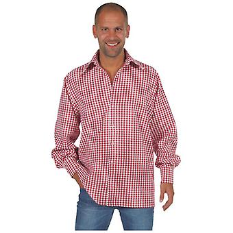 Men costumes Men Tyrolean/cowboy shirt red gingham Luxury