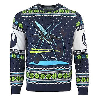 Star Wars Christmas Jumper Battle of Yavin X Wing Fighter new Official Mens