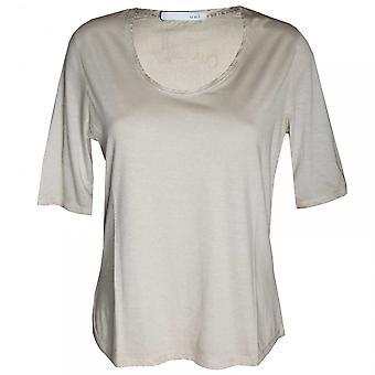 القصيرة الأكمام عادي تي-قميص نعم المرأة