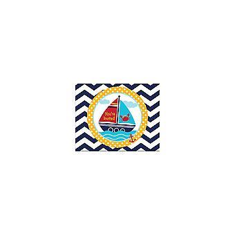 Pieni merimies kutsut kirjekuoret 8 kpl merimies syntymäpäivä koristeluun