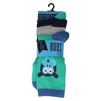 Boys RJM Animal Print Everyday Socks