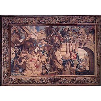 La bataille du pont Milvian, Peter Paul Rubens