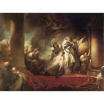 The Hight Priest Coresus Sacrifices Himself, Jean Honore Fragonard