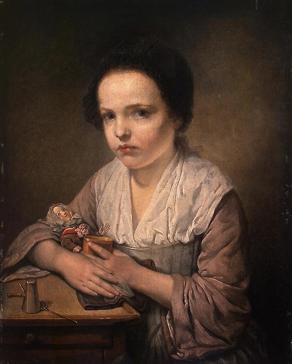A Girl with a Doll,Jean-Baptiste Greuze,50x40cm | Fruugo