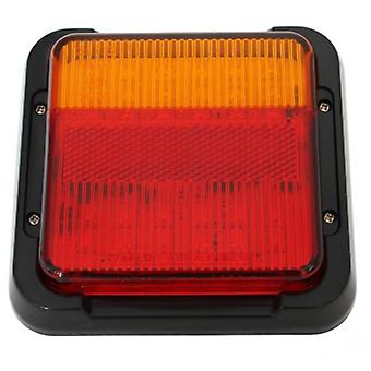 "LED 5"" Square Trailer Tail Light Vehicle Rear Reflector/Stop/Indicator"