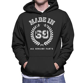 Made In 69 All Genuine Parts Men's Hooded Sweatshirt