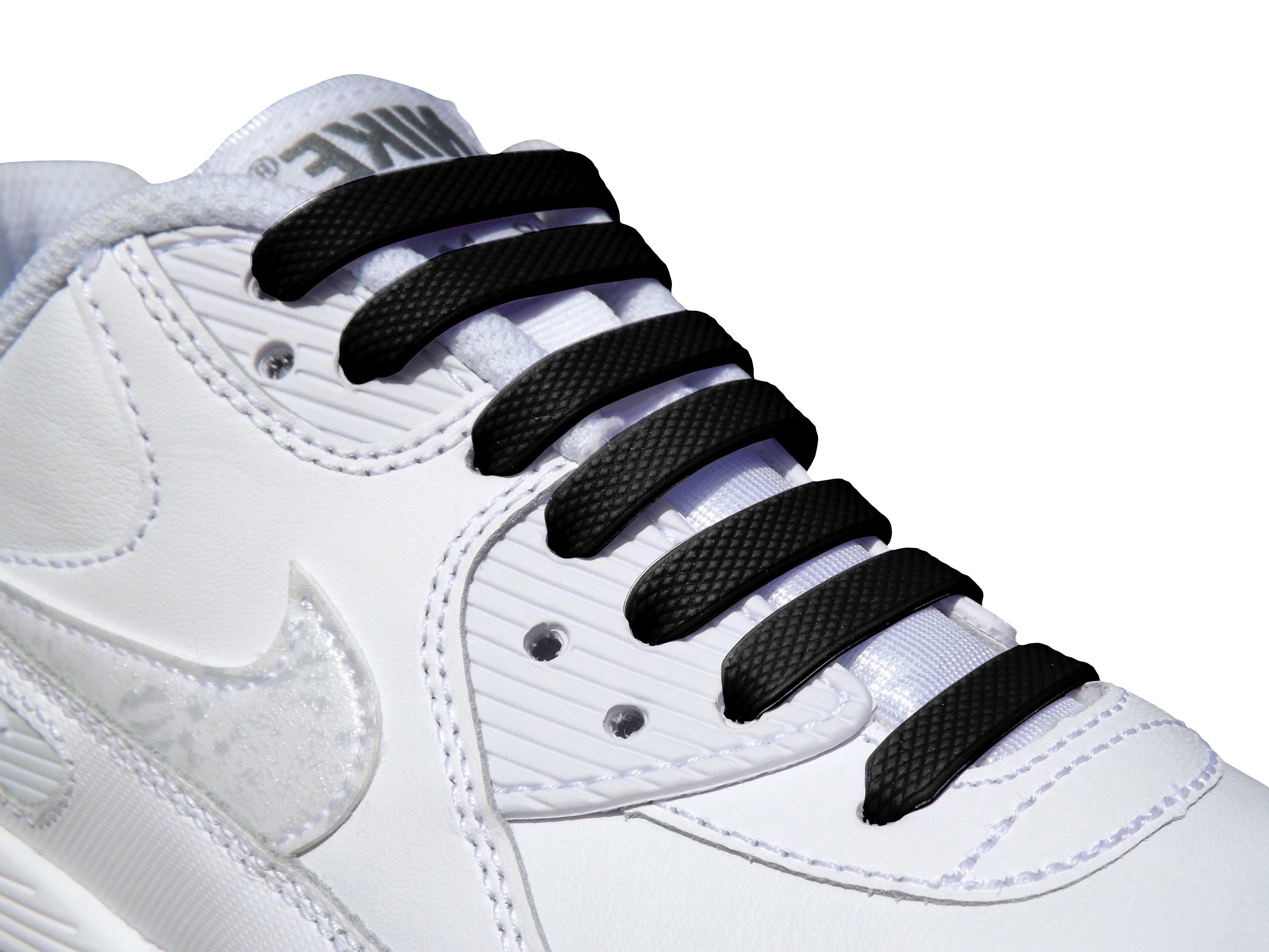 Black Kids Easy No Tie For Trainers