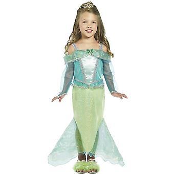 Merenneito prinsessa puku, lapsi ikä 3-4
