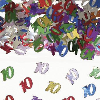 Tabell konfetti nummer 10 Deco konfetti födelsedagsfest