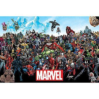 Poster Comic de Marvel universo