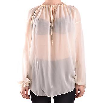 Dondup Ezbc051052 Women's White Silk Blouse