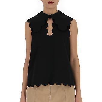 Mulberry Mywo565401yo440500001 Women's Black Cotton Top