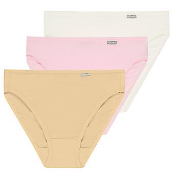 Jockey?? Women's Underwear Elance??? French Cuts Brief 3-Pack XXL Nude Mix