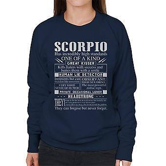 Moletom feminino características de Escorpião