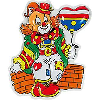Clown Deko Set 3tlg Tiefziehbild Karneval Zirkus