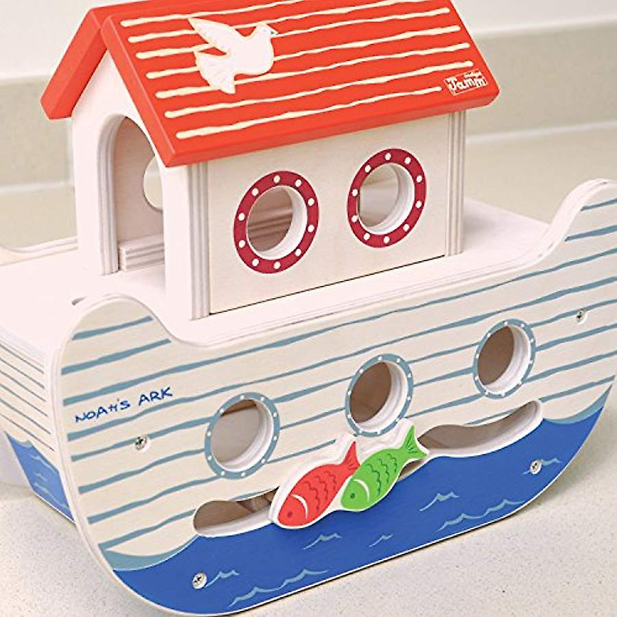 Indigo Jamm Noah�s Ark, Wooden Toy with Removable Roof, Characters and Animals