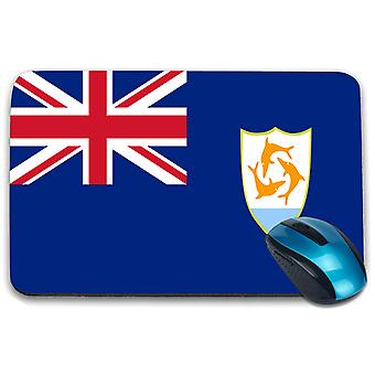 i-Tronixs - Anguilla Flag Printed Design Non-Slip Rectangular Mouse Mat for Office / Home / Gaming - 0239