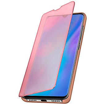 Flip Case, Mirror Case for Huawei P30 Pro, Standing Cover - Rose gold