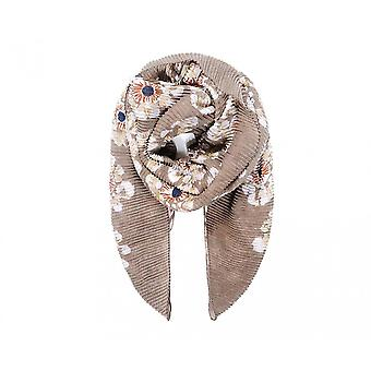 Intrigue Womens/Ladies Floral Print Pleated Scarf