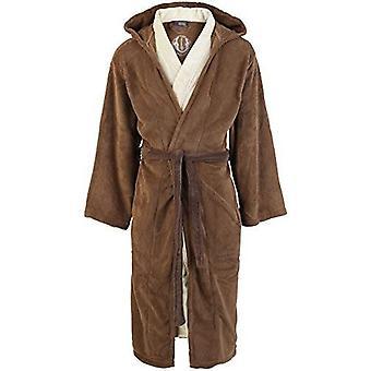 Star Wars Jedi Unisex adulto albornoz marrón-Beige - talla