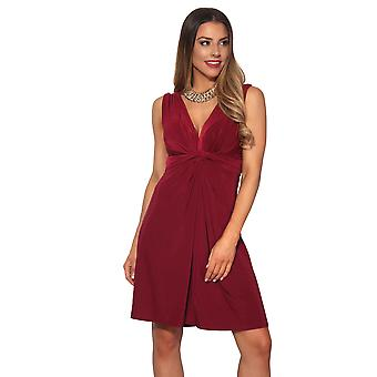 KRISP Ruched Drape Twist Knot Front Mini Vestido Tie Belted Party Verano Casual Playa