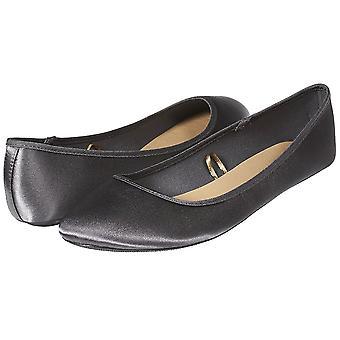 Sara Z naisten muoti rento slip-on Classic Satiini baletti tasainen kengät