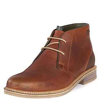 Mens Barbour Readhead Leather Cognac Work Office Derby Shoes Ankle Boots