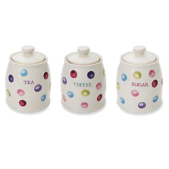 Cooksmart Spotty Dotty Tea Coffee Sugar Set