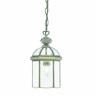 1 Lanterne de plafond léger Pendant antique Laiton