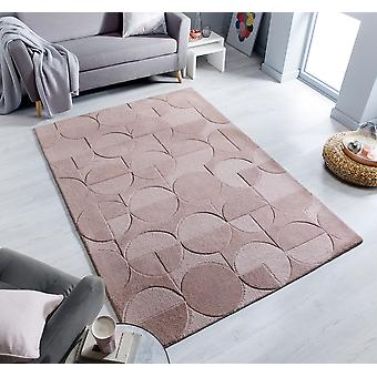 Moderno Blush Pink Rectangle Rugs Rugs Modernes