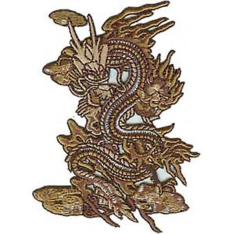 Patch - Animals - Brown Dragon Iron On Gifts New Licensed p-3509