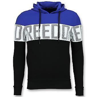Striped Hooded SweaT-Shirt - Hoodies Online - Blue