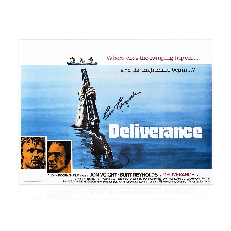 Burt Reynolds Signed Deliverance Film Poster In Gift Box