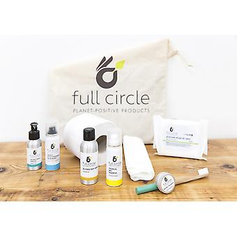 Full circle eco-friendly hygiene and toiletries pack