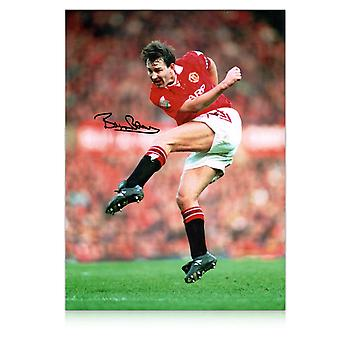Bryan Robson signiertes Manchester United Photo
