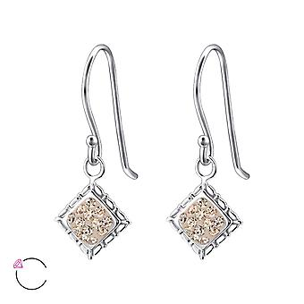 Square Crystal From Swarovski® - 925 Sterling Silver Earrings - W24404x
